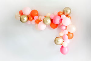 Orange and Pink Pumpkin DIY Balloon Garland Kit