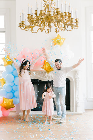 Gender Reveal Balloon with Optional Tassel Tail