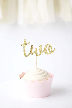 """Two"" Cupcake Toppers 