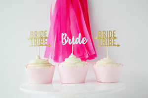 Bride Tribe Cupcake Toppers | Set of 12