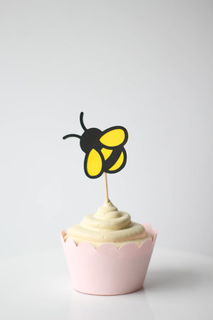 Bumble Bee Cupcake Toppers | Set of 12