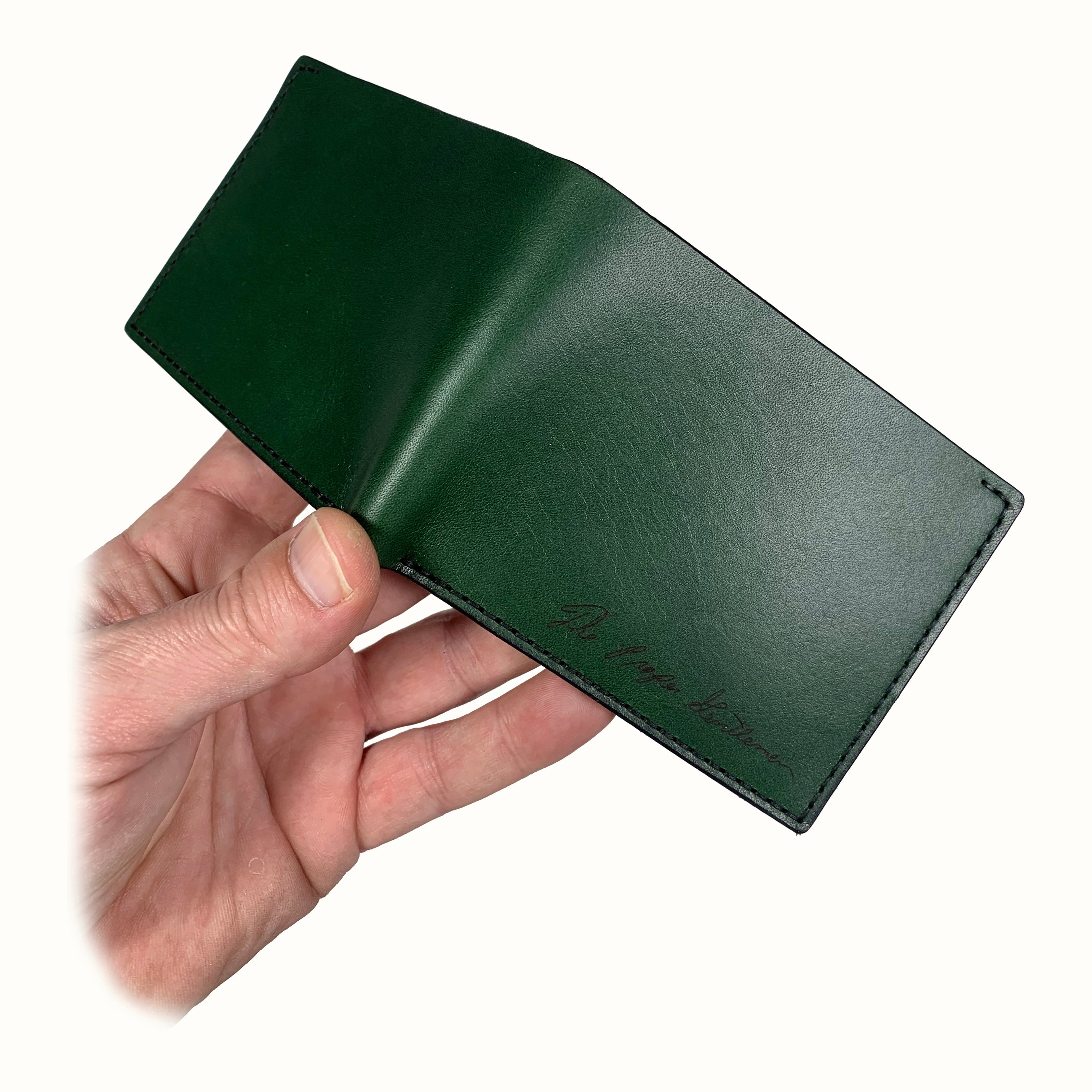 JohnBoy Bifold - Zucchini Green and Tan