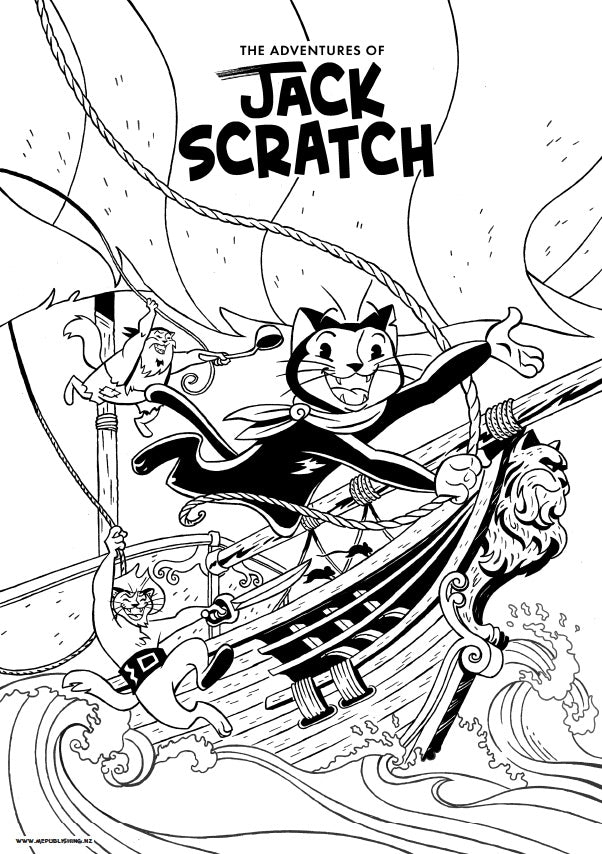 Jack Scratch Colouring Pages Ahoy! - Free Download