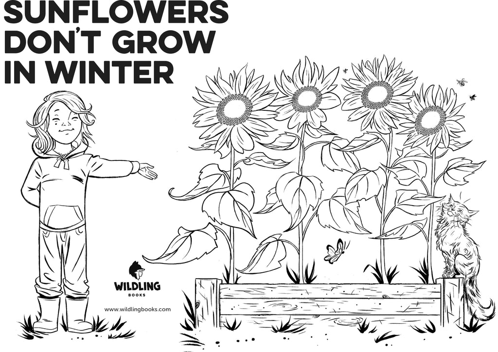 Sunflowers Don't Grow In Winter colouring in pages - free download