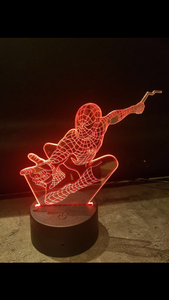 LED light up 3D Spiderman display. 9 Colour options with remote! - Laser LLama Designs Ltd