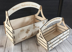Halloween personalised sweet/treat box - Laser LLama Designs Ltd