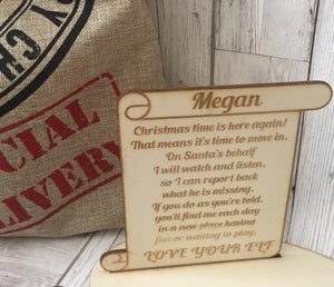 Personalised Naughty Elf Plaque - Laser LLama Designs Ltd
