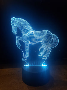 LED light up HORSE display ,9 Colour options with remote! - Laser LLama Designs Ltd