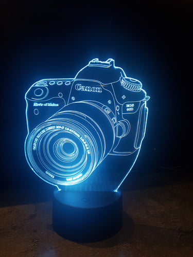 LED light up Camera display ,9 Colour options with remote! - Laser LLama Designs Ltd