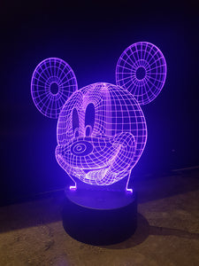LED light up Mickey Mouse display. 9 Colour options with remote! - Laser LLama Designs Ltd