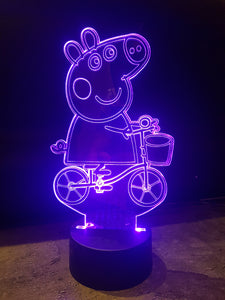 LED light up PEPPA PIG display ,9 Colour options with remote! - Laser LLama Designs Ltd