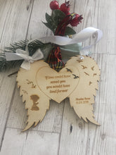 Load image into Gallery viewer, Personalised hanging wings decoration - Laser LLama Designs Ltd