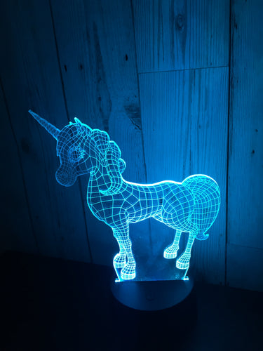 LED light up Unicorn display- 9 colour options with remote! - Laser LLama Designs Ltd