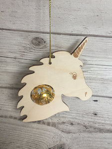 Wooden Christmas Bauble for lindor chocolate - Laser LLama Designs Ltd