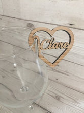 Load image into Gallery viewer, Personalised wedding & party glass name - Laser LLama Designs Ltd