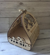 Load image into Gallery viewer, wooden Personalised easter basket - Laser LLama Designs Ltd