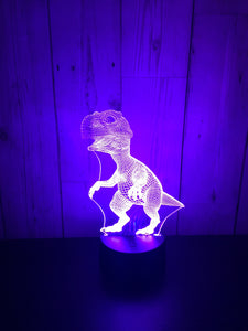 LED light up Dinosaur display- 9 colour options with remote! - Laser LLama Designs Ltd