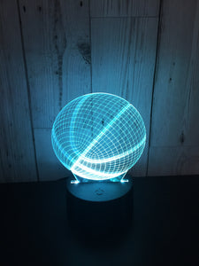 LED light up Basketball display- 9 colour options with remote! - Laser LLama Designs Ltd