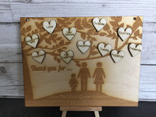 Load image into Gallery viewer, Wooden personalised Laser engraved tree plaque - Laser LLama Designs Ltd