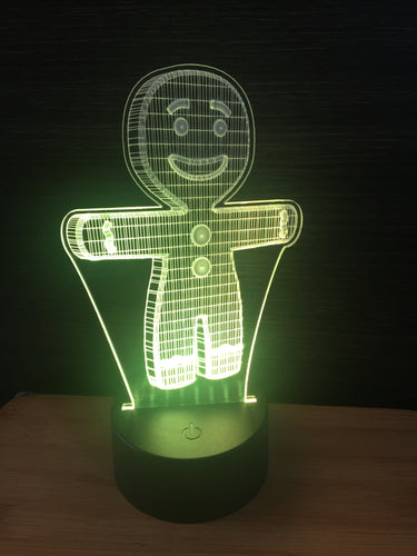 LED light up GINGERBREAD MAN display ,9 Colour options with remote! - Laser LLama Designs Ltd