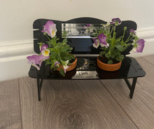 Load image into Gallery viewer, Acrylic personalised bench for flower pots