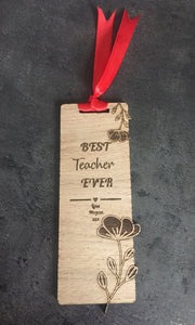 Oak veneer personalised bookmark - Laser LLama Designs Ltd