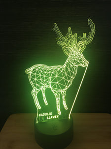 LED light up DEER display ,9 Colour options with remote! - Laser LLama Designs Ltd