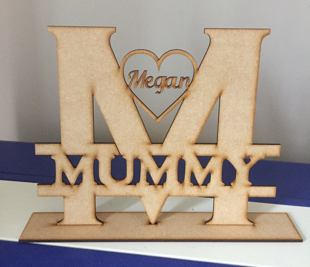 Freestanding split letter name - Laser LLama Designs Ltd
