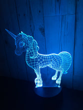 Load image into Gallery viewer, LED light up Unicorn display- 9 colour options with remote! - Laser LLama Designs Ltd