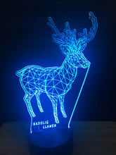 Load image into Gallery viewer, LED light up DEER display ,9 Colour options with remote! - Laser LLama Designs Ltd