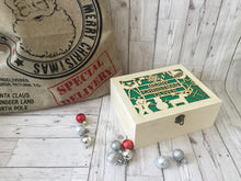 Load image into Gallery viewer, Personalised Wooden Christmas Eve Box with acrylic backing - Laser LLama Designs Ltd