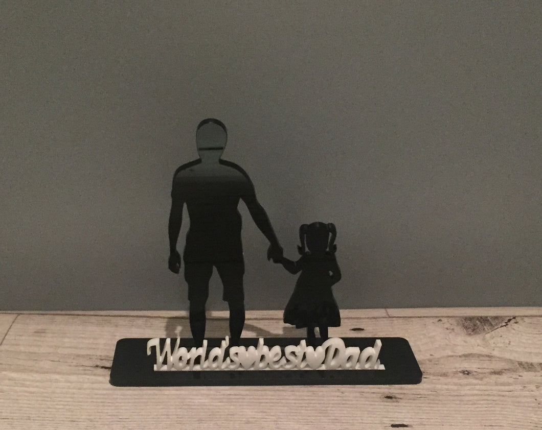 Acrylic personalised Dad daughter/son decoration - Laser LLama Designs Ltd