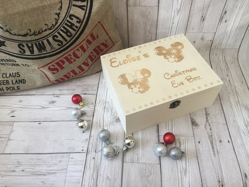 Personalised Wooden Christmas Eve Box - Laser LLama Designs Ltd