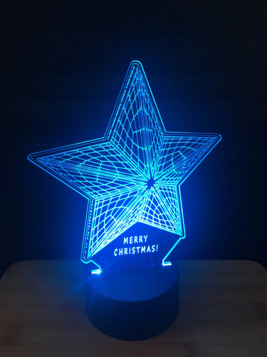 LED light up CHRISTMAS STAR display ,9 Colour options with remote! - Laser LLama Designs Ltd
