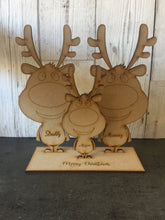 Load image into Gallery viewer, Christmas reindeer family - Laser LLama Designs Ltd