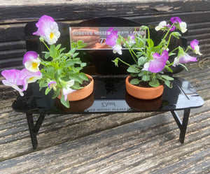 Acrylic personalised bench for flower pots