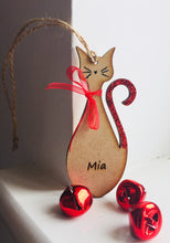 Load image into Gallery viewer, Personalised Cat Tree Decoration - Laser LLama Designs Ltd