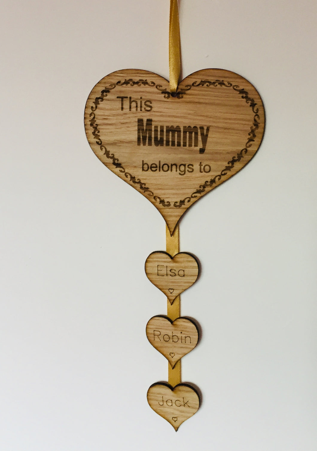Hanging wall plaque, heart shape, this ... belongs to - Laser LLama Designs Ltd