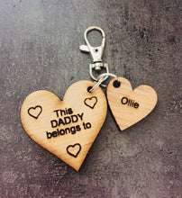 Load image into Gallery viewer, Oak veneer personalised keyring - Laser LLama Designs Ltd