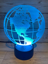 Load image into Gallery viewer, Light up 3D Globe display. 9 Colour options with remote! - Laser LLama Designs Ltd