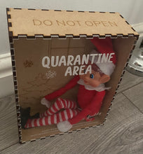 Load image into Gallery viewer, Wooden quarantine isolation box for elf