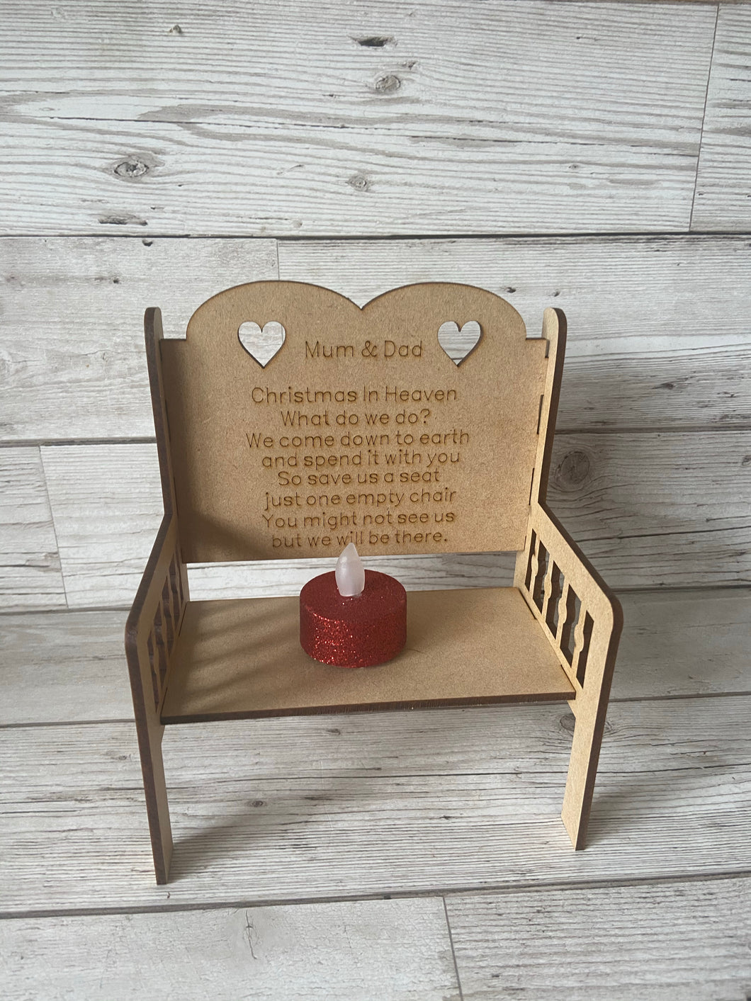 Mdf wooden personalised double bench