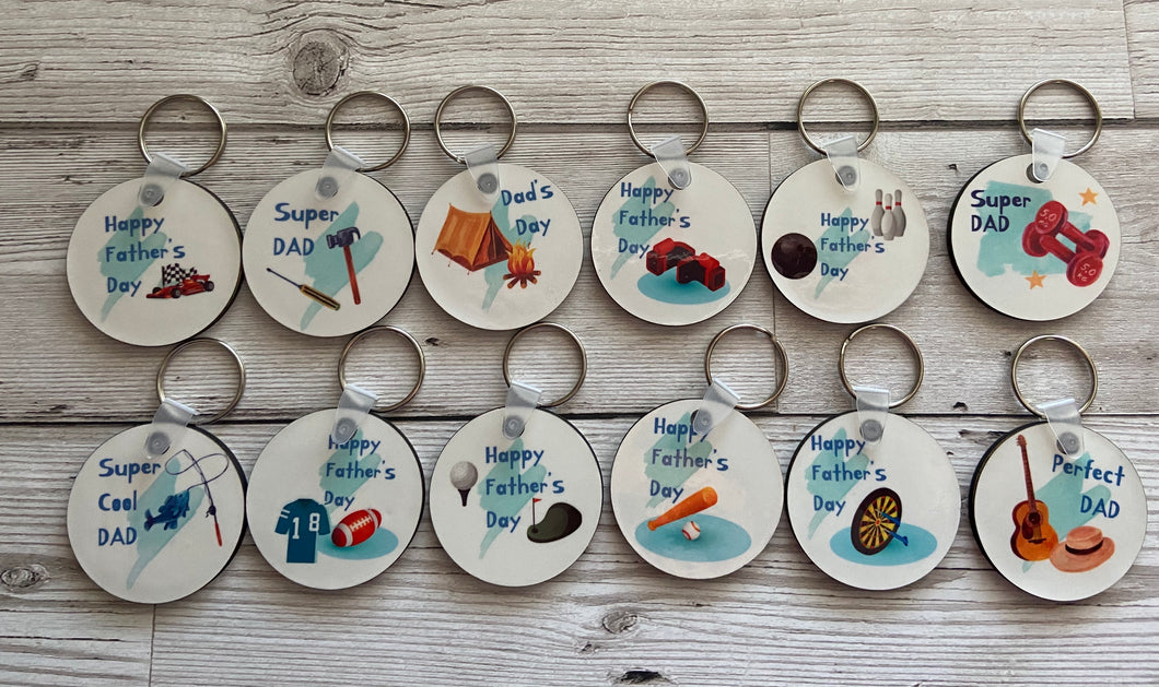 Father's Day keyring - Laser LLama Designs Ltd