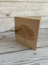 Load image into Gallery viewer, Wooden personalised engraved tree card for teacher - Laser LLama Designs Ltd