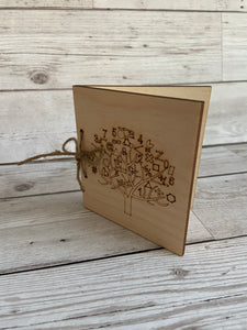 Wooden personalised engraved tree card for teacher - Laser LLama Designs Ltd