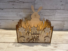 Load image into Gallery viewer, Wooden Easter Bunny Basket - Laser LLama Designs Ltd