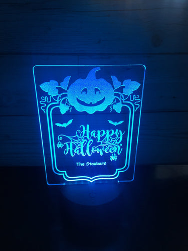 Halloween LED light up display- 9 colour options with remote! - Laser LLama Designs Ltd