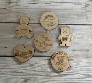Little pocket token - 6 designs - Laser LLama Designs Ltd