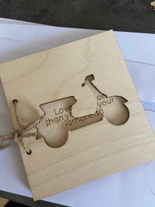 Wooden personalised Father's Day card -13 designs - Laser LLama Designs Ltd