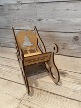 Load image into Gallery viewer, Wooden personalised Santa sleigh